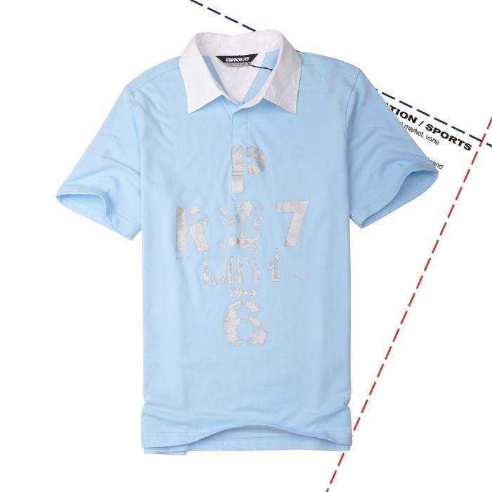 Спортивная футболка Chaoyue 9711063 Стандартный Воротник-стойка 100 хлопок Для спорта и отдыха Влагопоглощающие % Рисунок
