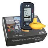 欧美版无线声纳探鱼器-大屏幕点阵LCD,鱼深水底清晰显示