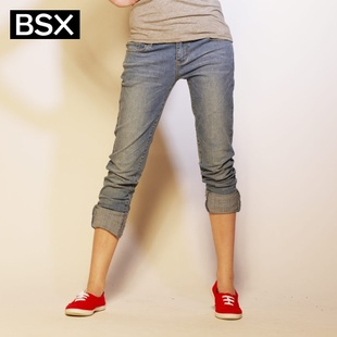 Recommend Giordano BSX trousers in summer 2012 new stock ladies ' lightning Xiong Zhi Rong skinny narrow foot tide cattle