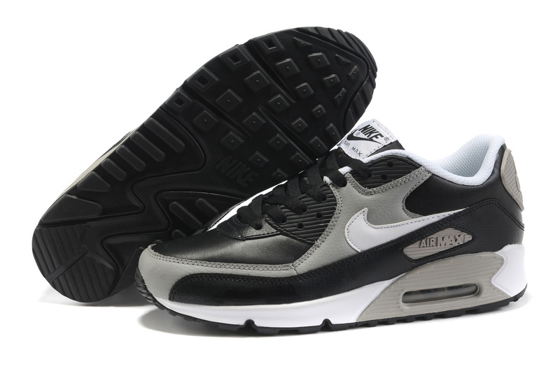 Демисезонные ботинки Nike 333888/008 2012 AIR MAX 90 Для отдыха Кожа Круглый носок Шнурок