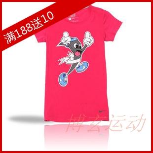 Спортивная футболка Nike 417291 -634 Свободный О-вырез Короткие рукава ( ≧35cm ) 100 Влагопоглощающие Логотип бренда