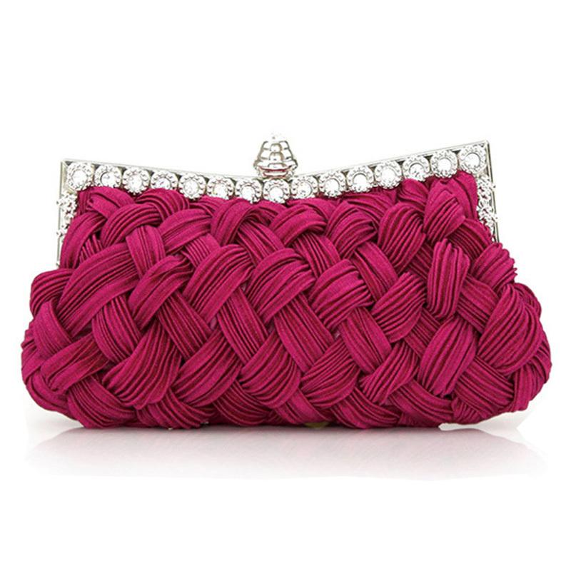 【天天特价】韩国2013款编织镶钻女士手拿包手袋晚宴包新娘包手包