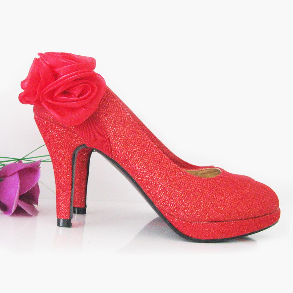 韩版防水台 结婚季/婚鞋红色/单鞋细跟尖头鞋/中高跟/新娘鞋子/晚宴鞋D07