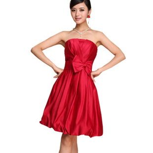 Philip bride toast clothing red Delta short Korean belly band wedding wedding dress gown bridesmaid clothing small dress 055