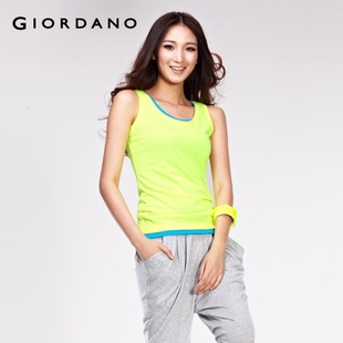 Giordano t-shirts women in summer 2012 new neon vest 01332020