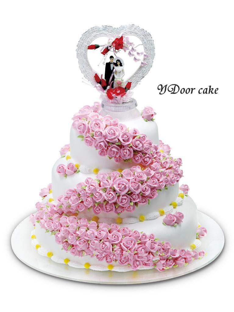 无锡蛋糕店速递 创意个性婚礼蛋糕 多层生日蛋糕 市区免费配送