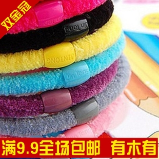 Korean hot wild high elastic fluffy candy color/head rope of  ring/ rope (random colors)