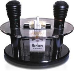 KTV话筒架 放置烟架 亚克力麦架 多功能展架 麦克风架子 水晶