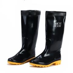 展鹰中高筒雨鞋男雨靴套鞋 耐酸碱水靴牛筋底劳保胶靴水鞋