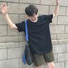 日系情侣夏季男士原宿纯色T恤短袖衣服半袖体恤潮流