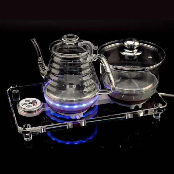 科思达 壶底上水水晶玻璃养生壶 自动加水电热