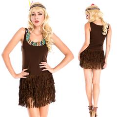 万圣节女巫服加勒比海盗服印第安人土著装夜店DS演出服玛雅原始人