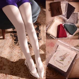2014秋装欧美显瘦弹力百搭竖条纹针织薄款打底连裤袜丝袜