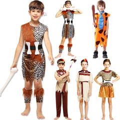 儿童节化妆舞会节目表演衣服男女印第安土著人服装儿童野人演出服