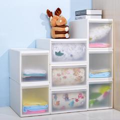 百露日韩式分层自由组合塑料收纳柜抽屉式储物柜收纳盒抽屉