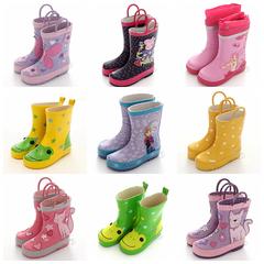 出口儿童雨鞋女童雨鞋雨靴大童防滑水鞋天然橡胶宝宝雨鞋瑕疵特卖