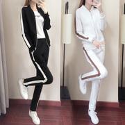 2019春秋女套装时尚开衫宽松显瘦运动服卫衣两件套潮