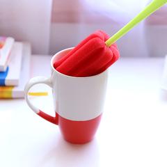 创意日式强力去污海绵洗杯刷长柄清洁刷子厨房纳米卫生杯子瓶刷