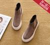 2021欧美春秋平跟短靴单靴平底马丁靴短筒及踝靴厚底鞋女靴子