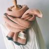 冬季小清新女日系百搭软妹围脖学生围巾简约针织毛线文艺加厚