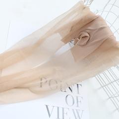 6双远东丝袜女薄款防勾丝t档夏季超薄连裤袜夏天透明水晶丝黑色1d