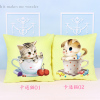 十字绣抱枕卡通动漫可爱猫咪一对枕头客厅沙发靠垫十字绣2018