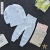 婴儿彩棉衣服宝宝高腰护肚裤套装纯棉秋衣秋裤男女童可开档内衣裤