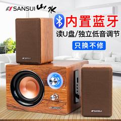 音效不错,可能是我要求太高了吧,100多块能有这个音质也很满意了__Sansui山水 GS-600011B蓝牙音箱音响低音炮笔记本电脑家用台式