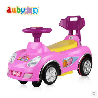Auby / O Pui children shilly car with music putter swing yo yo Scooter joy shilly car