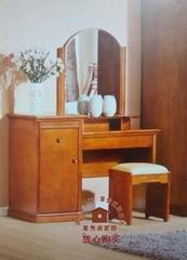 星秀阁家居 卧房家具 实木家具 梳妆台梳妆凳 橡木妆台