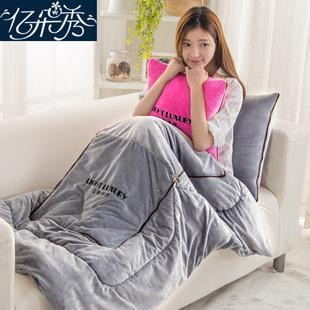 多功能抱枕被子两用珊瑚绒毯子靠垫靠枕头被折叠汽车载午休空调被