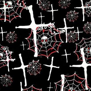 蜘蛛网骷髅头纯棉大方巾嘻哈头巾街舞多用方巾围脖围巾时尚潮男女