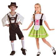 新法国男女童表演服装德国民族传统巴伐利亚儿童节舞台演出啤酒服