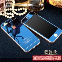 2018iphone4S 钢化膜苹果5S玻璃膜电镀镜面 前后套彩膜高清se