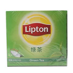立顿绿茶包 绿茶袋泡茶叶 100包200g盒装 Lipton