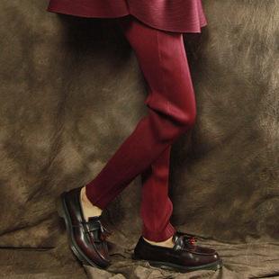 三宅铅笔裤褶皱一生打底裤 长裤 裤子显瘦大码女装瘦腿裤弹力