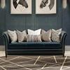 后现代轻奢皮艺沙发美式欧式简约客厅组合样板间会所整装真皮沙发