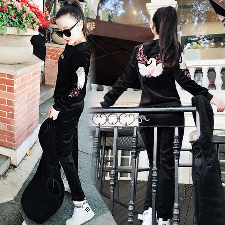 棉运动套装女韩版冬
