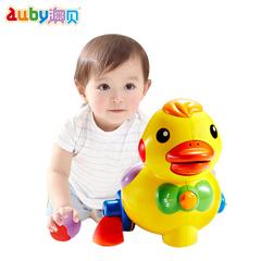 澳贝婴幼儿学爬玩具乖乖小鸭下蛋鸭子引导爬行学步6个月宝宝玩具