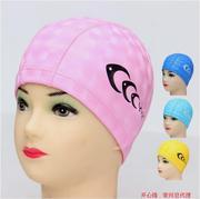 2018年高档K 3DPU涂层面料舒适防水泳帽中大童男女通用