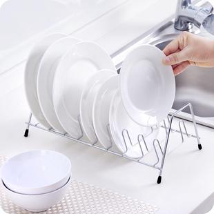 厨房不锈钢单层晾碗碟置物架碟架盘子沥水架子收纳架沥水架碗架