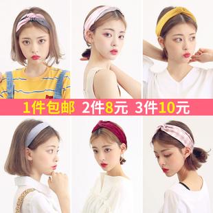 chic风韩国甜美森女系束发带ins樱花网红洗脸发箍头巾发卡头饰品