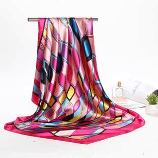 丝巾女春秋丝绸缎面大方巾围巾防晒空调披肩夏季超大长款沙滩巾