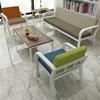 办公沙发简约接待简易三人位小户型商务会客室沙发茶几组合可拆洗