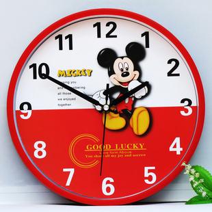 时尚现代挂钟 客厅卧室挂表静音时钟儿童卡通挂钟表