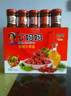 徐州特产天利丁妈妈香辣牛蒡酱5瓶箱天益牛旁膀下饭拌饭酱菜