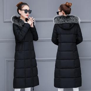 2018羽绒棉服衣女反季棉衣冬季加厚中长款过膝保暖外套