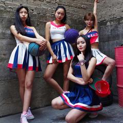 韩舞女团少女时代露脐酒吧夜店啦啦队ds演出服性感爵士舞服装