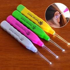 发光耳勺日本手电耳掏夜光挖耳勺带灯挖耳朵 儿童成人皆可用