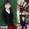 男童西装套装三件套3秋冬季加绒4儿童小西装5男孩花童礼服6岁